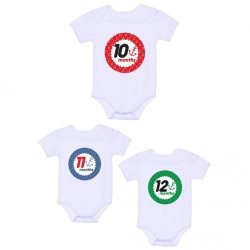 LMC Anchor Monthly Onesies, Pack of 3 (White)