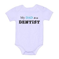 LMC My Dad is a Dentist Onesie (White)
