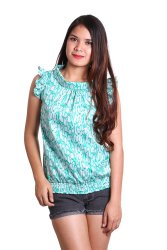 Love My Clothes Lai Blouse (Printed Green)
