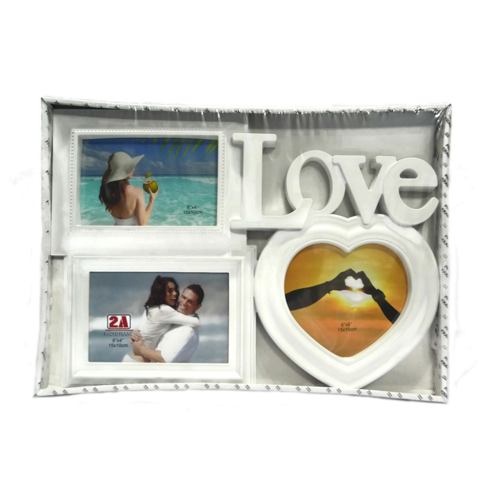 Love With Heart Design Collage (White) - thumbnail