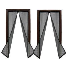 Magic Mesh Instant Screen Door (black) Set Of 2 By Joeys Shop.