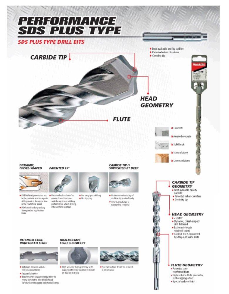 Makita D-00256 / P-29527 13mm x 160mm SDS Plus Type Drill Bit - 799
