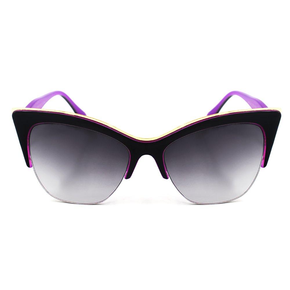Maldives Jane Sunglasses D1580 (Black/Purple) - thumbnail