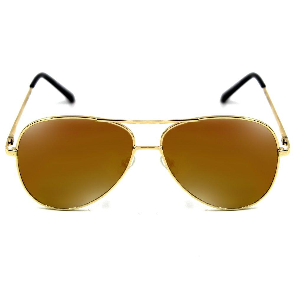 Maldives Kris Sunglasses 1601 (Gold/Orange) - thumbnail