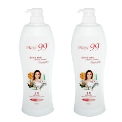 Maxi 99 Goat's Milk Shower Cream with Royal Jelly 2x1000ml
