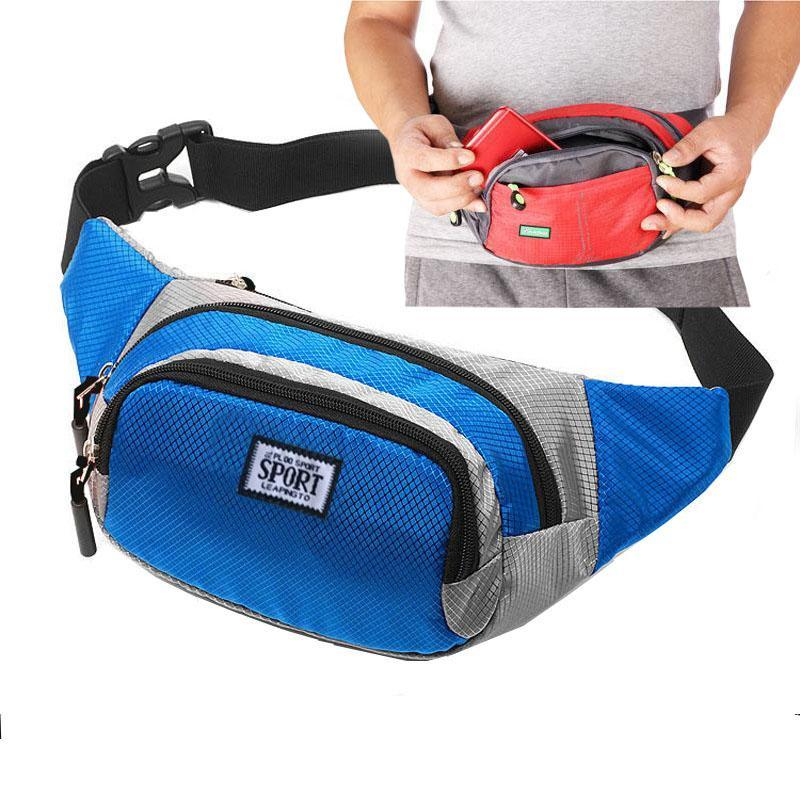 46b2134f93d9 @@@ (blue) Waist Pack Best Running Belt Fanny Pouch Waistband Case Holds  All Cell Phones Sports Fitness Holder Bag fits Women Men Jog Runners With  ...