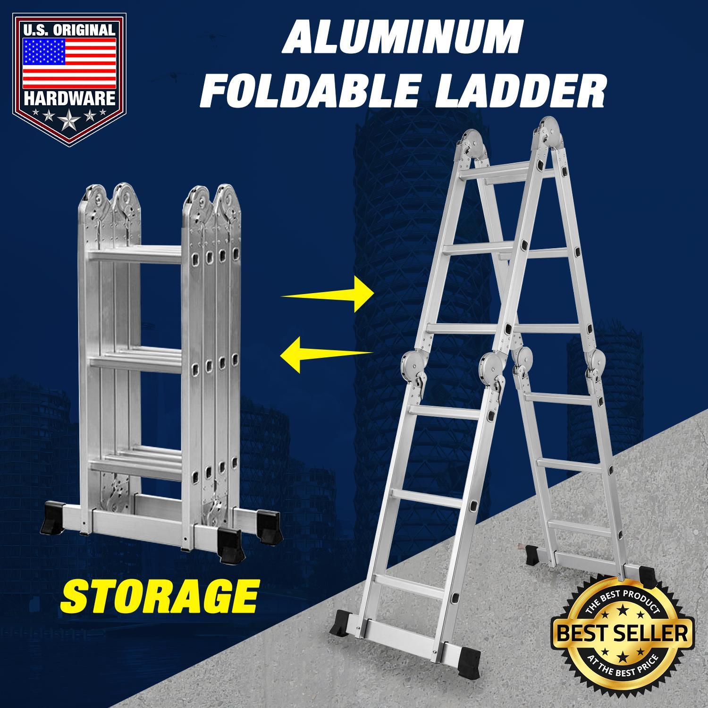 NEUMANN ALUMINIUM LADDER (MULTI-FUNCTION - FOLDABLE) 4 7 MTRS ladder -  hagdan - hagdanan - step - extension - foldable - step ladder - extension