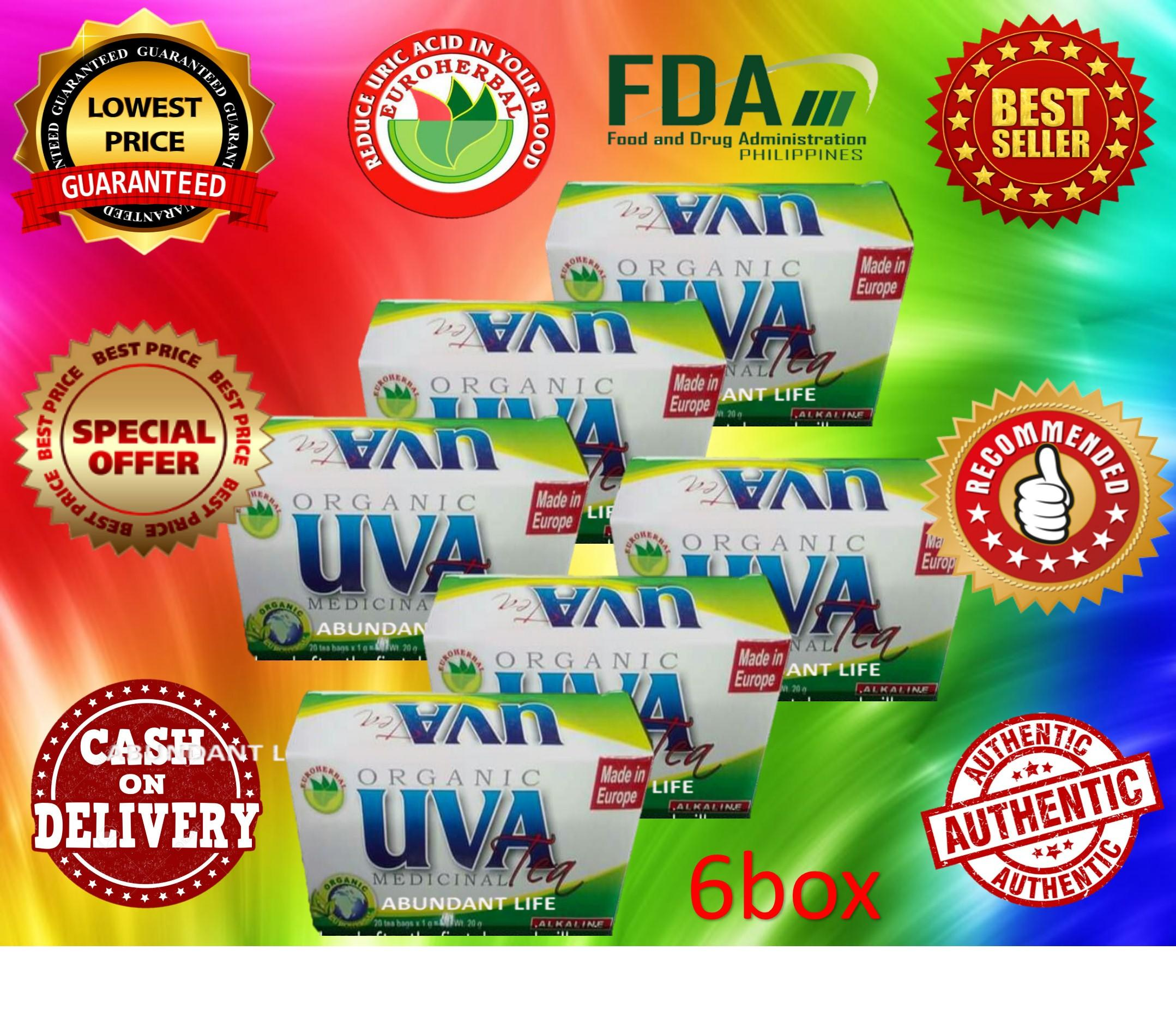 6 BOXES UVA MEDICINAL EUROHERBAL TEA 100% AUTHENTIC ORIGINAL NOW ON SALE  SAFE AND EFFECTIVE SOLD BY ABUNDANT LIFE