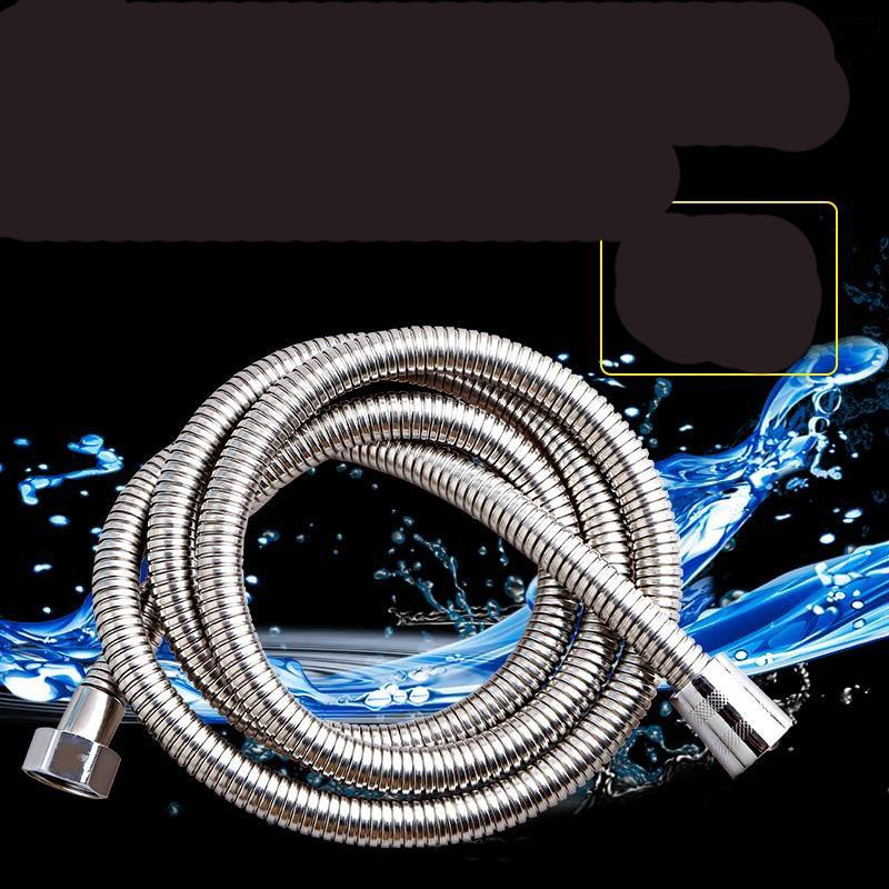 5Ft - 60 Inches- 1 5 Meter Extra Long Flexible Made Of Stainless Steel  Bathroom Handheld Shower Head Wand Hose Showering Pipe For Replacemet