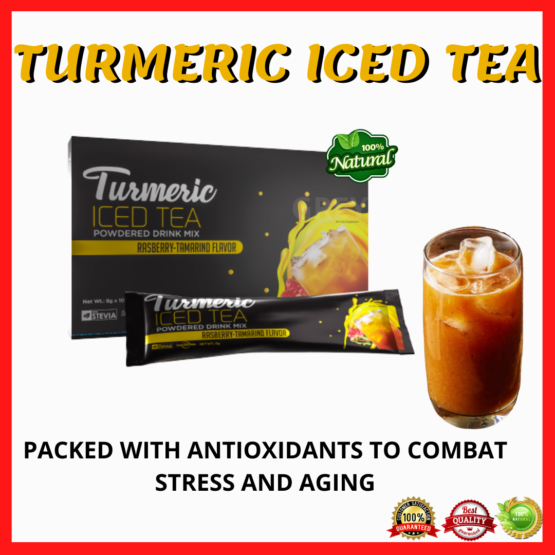 Turmeric Iced Tea Raspberry Tamarind Flavor Juice With 18