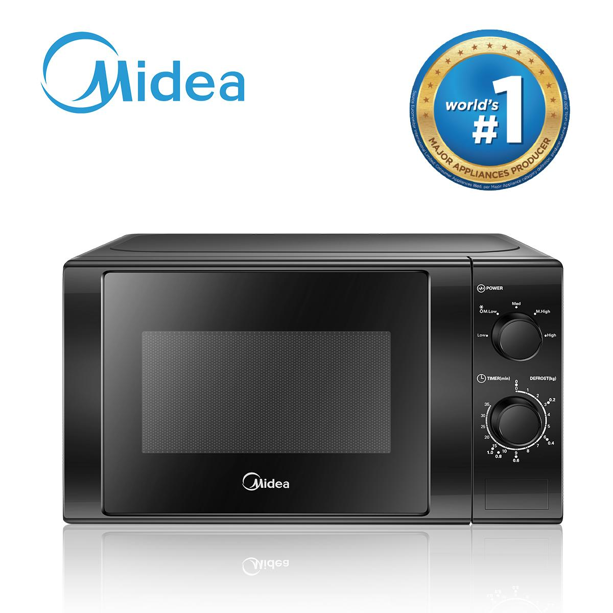 Midea Fp 61mmv020lmsm B1 20l Black Mechanical Mircrowave Oven