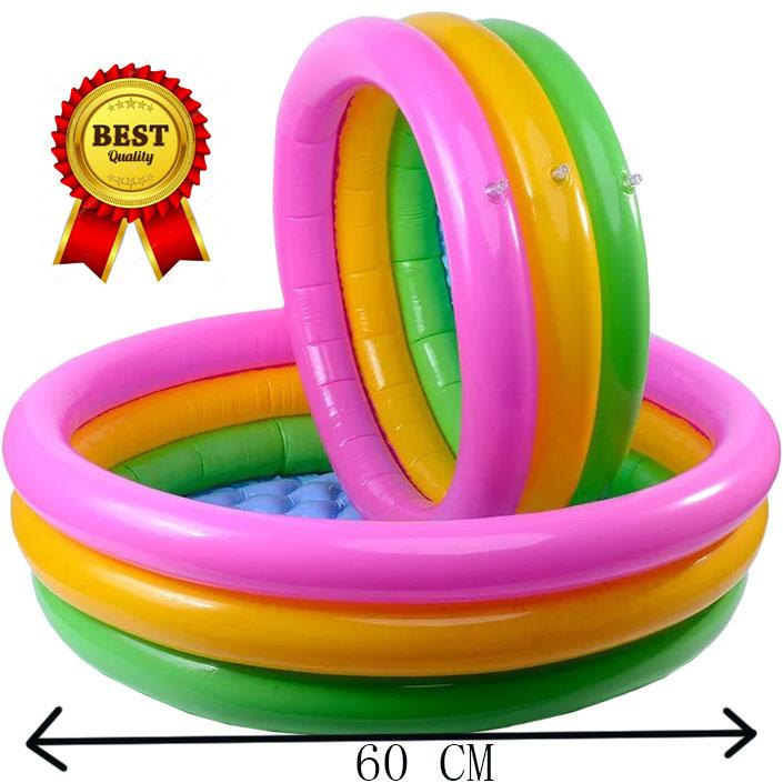 Lazada Top One 60cm For Baby 3 Ring Inflatable Outdoor Swimming Pool By Sasung.
