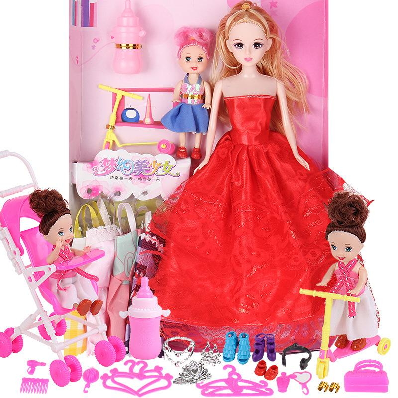 b1573d1f860aa LAZADA TOP ONE 28 in 1 Barbie Wedding Dress House Girl Child Toy Doll  Accessories Clothes