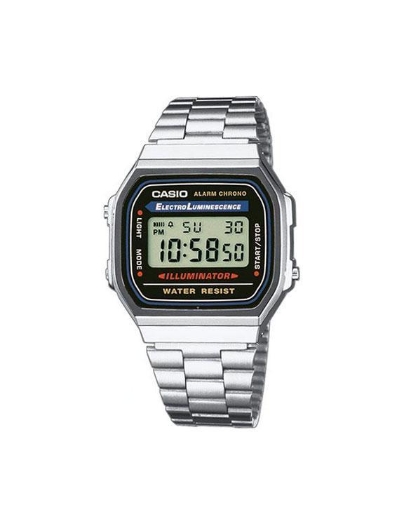 30e4b4438523 Casio Digital Silver Stainless Steel Strap Watch A168WA-1WDF with 1 Year  Warranty (T1Y