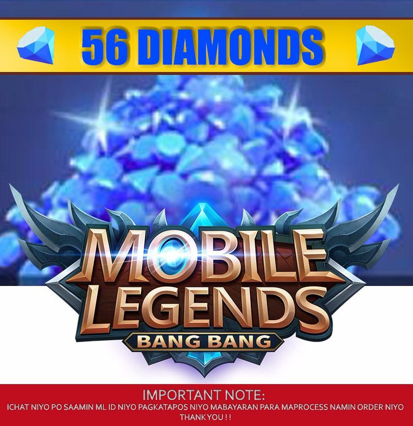 56 MOBILE LEGENDS DIAMONDS