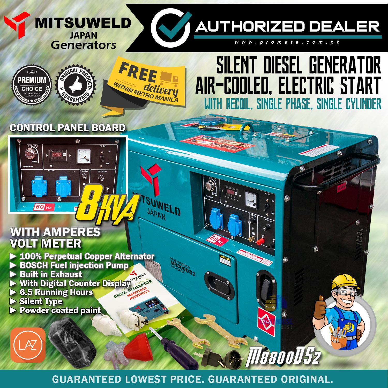 MITSUWELD 8KVA Silent Electric Start Diesel Generator Set