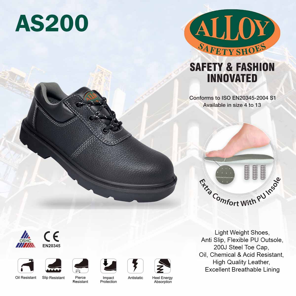 ALLOY SAFETY SHOES AS200: Buy sell
