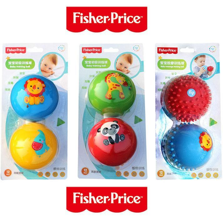 Fisher Price Baby Grasping Ball Set Childrens Toy Baby Primary Training Ball Rattle Ball Massage Ball 6-12 Month By Sasung.