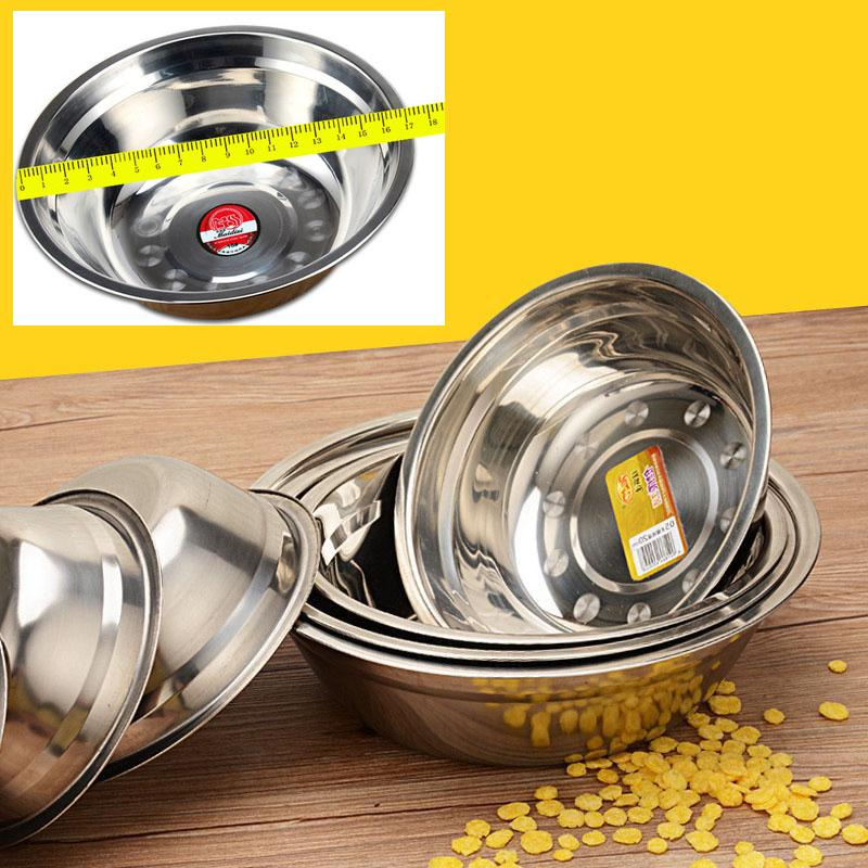5 Pcs 17cm Stainless Steel Basin 304 Circle Soup Thick Household Soup Kitchen Sink Canteen Stainless Steel Bowl Soup Bowl Tableware By Sasung