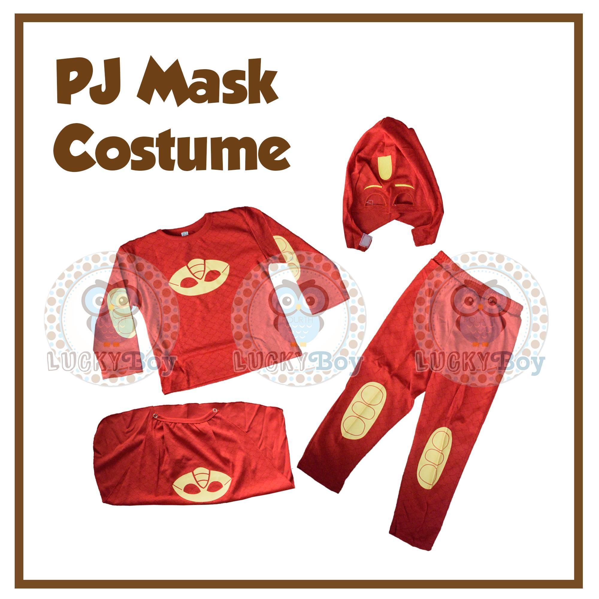 NWT PJ Masks Owlette Catboy Girl Wings Hoodie Cape Costume Dress 2T 3T 4T 5T 6