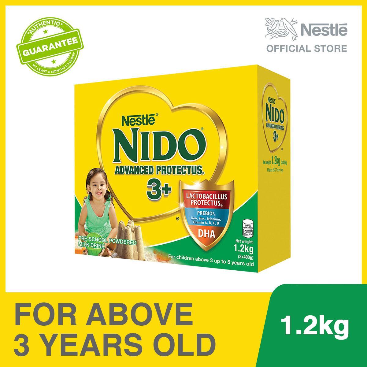 Nestlé® NIDO® ADVANCED PROTECTUS® 3+ Pre-School Powdered Milk BIB 1 2kg