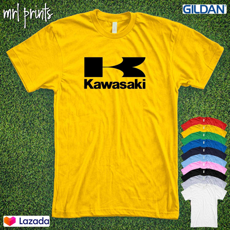Short Sleeved Cotton Shirts Women Kawasaki-Motorcycle-Logo