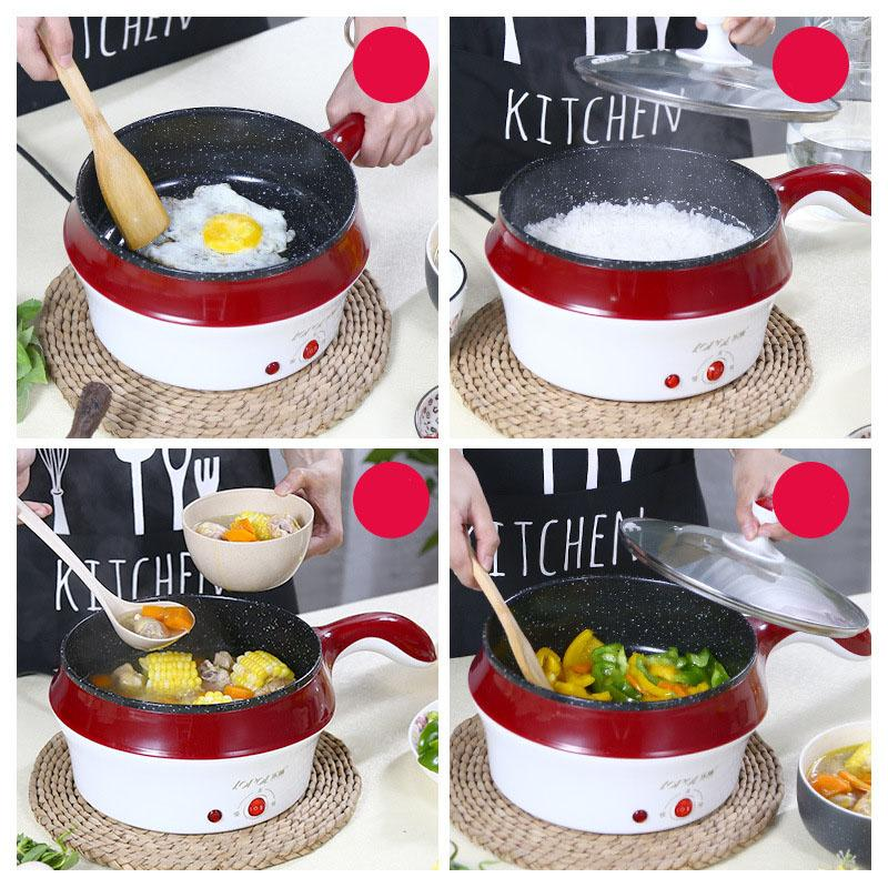 Lazada Top One 1 2l Super Red Best Quality Multi Cooker Food Grade Stainless Steel Rice Boil Steamed Soup Pots Perfect For Dorm Wala Sama Steamer