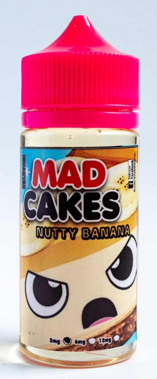 Mad Cakes 100ml Vape E Juice Low Strength Liquid 6 Flavors [nutty banana,  eclair, ube roll, yema cake, smores]