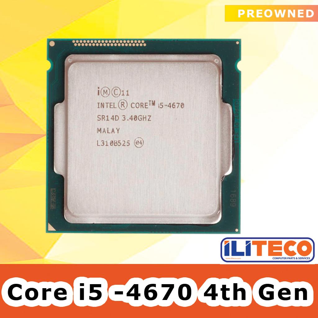 Intel Core i5-4670 3.40GHz Quad-Core CPU Processor SR14D