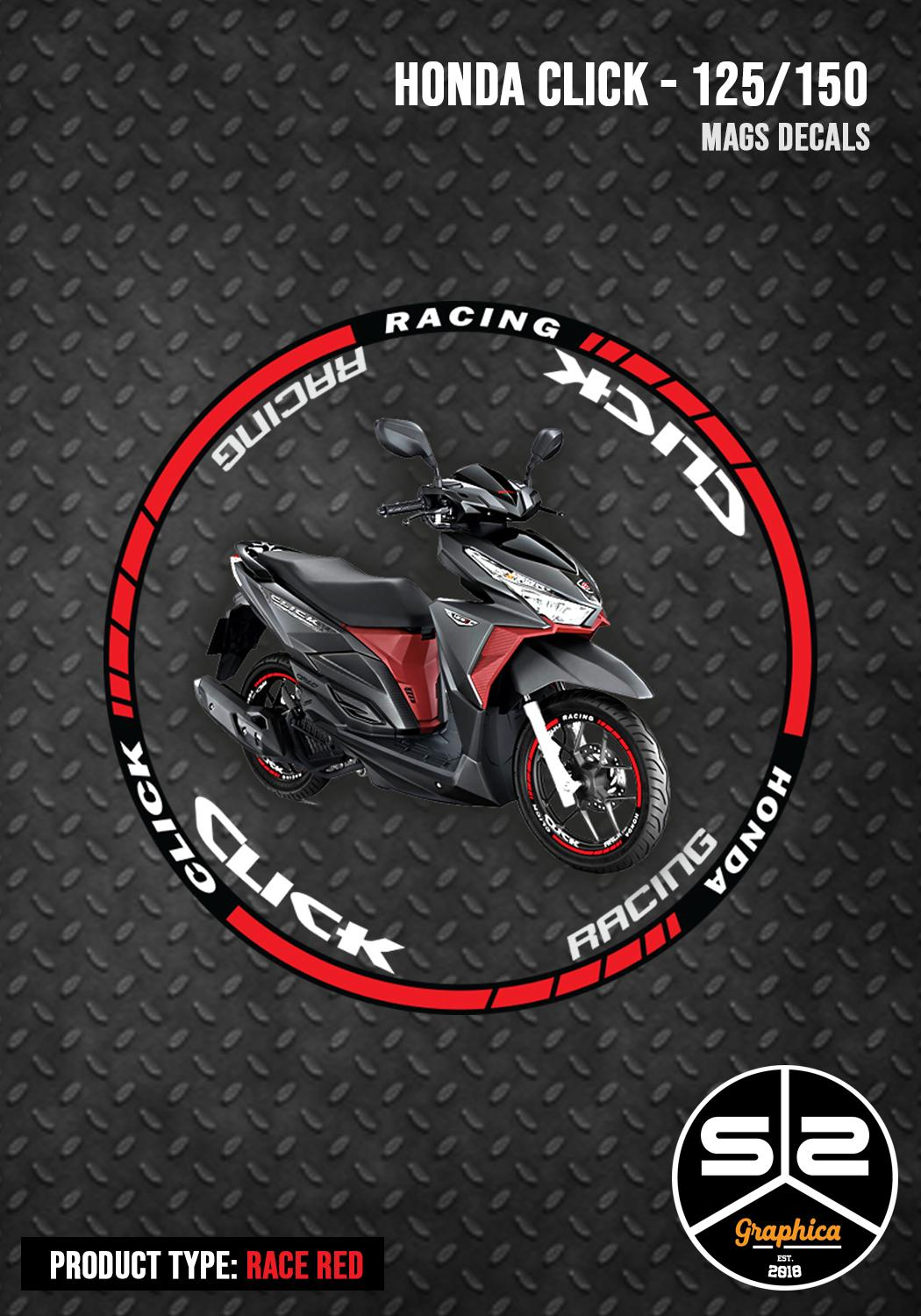 Mags decals honda click racing series red