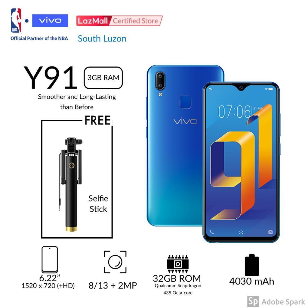 Vivo Y91+3GB Ram+32Gb Rom 4030mAh