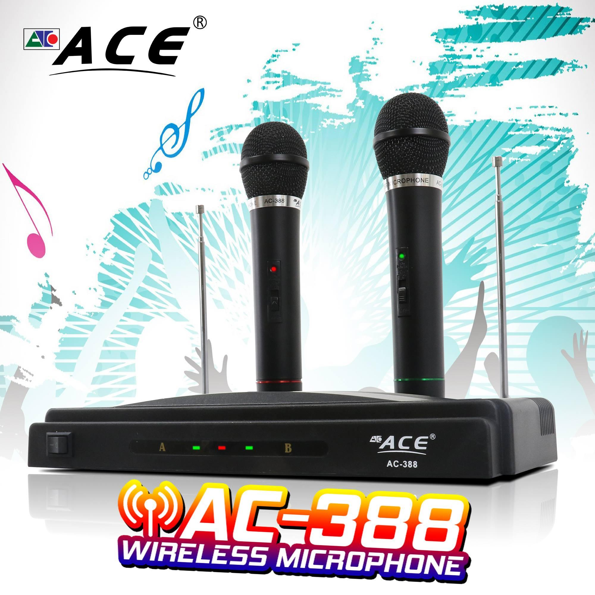 Ace Wireless Microphone Ac-388 By Ace Electronic Shop.