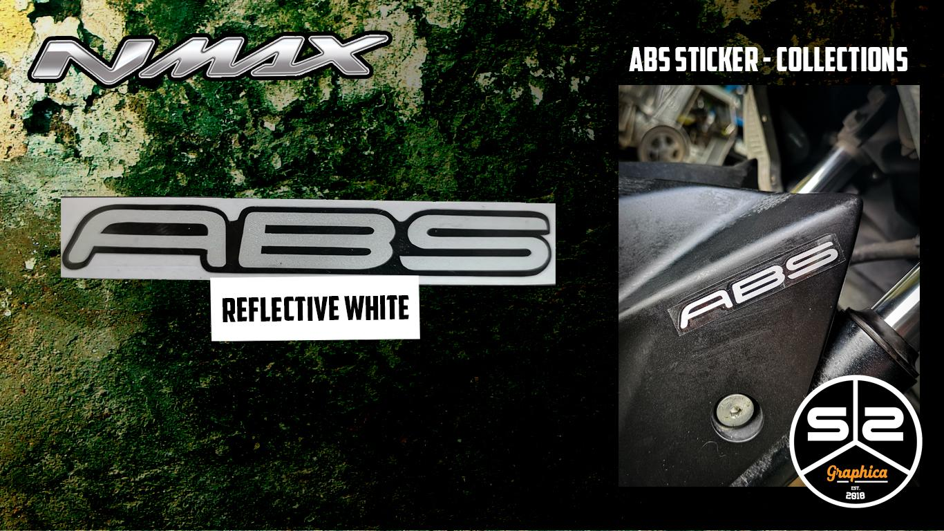 Yamaha NMAX - ABS Stickers - Reflective White - PAIR
