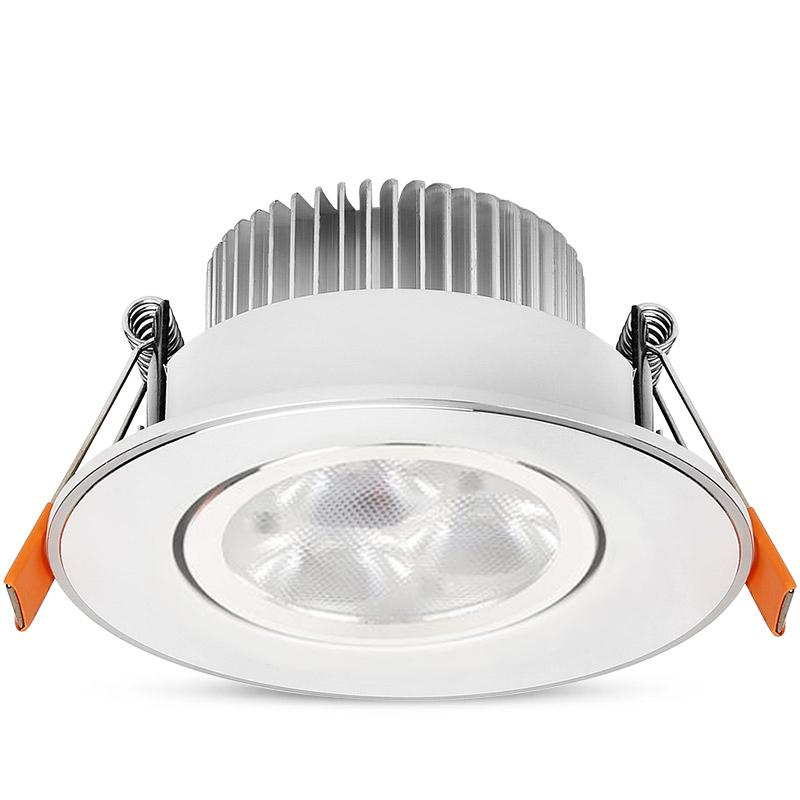 LEEKI LED Downlight Recessed Indoor Ceiling Light Spot Lights Adjustable  Angle Home Living Room Lamp 3W / 7W / 12W /18W- intl