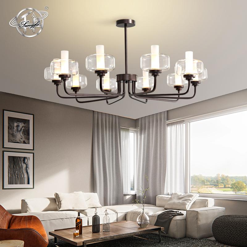 LED PH Ceiling Lamp Lighting White Glass Pendant Light Fixtures Room Chandeleier