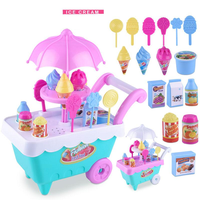 Lazada Top One Super Mini Ice Cream Candy Cart Pretend Play Food Dessert Cash Trolley Set Toys Kids, Toddlers, Girls (its The Mini Size 17cm,please Take Your Glasses And See Clearly) By Sasung.