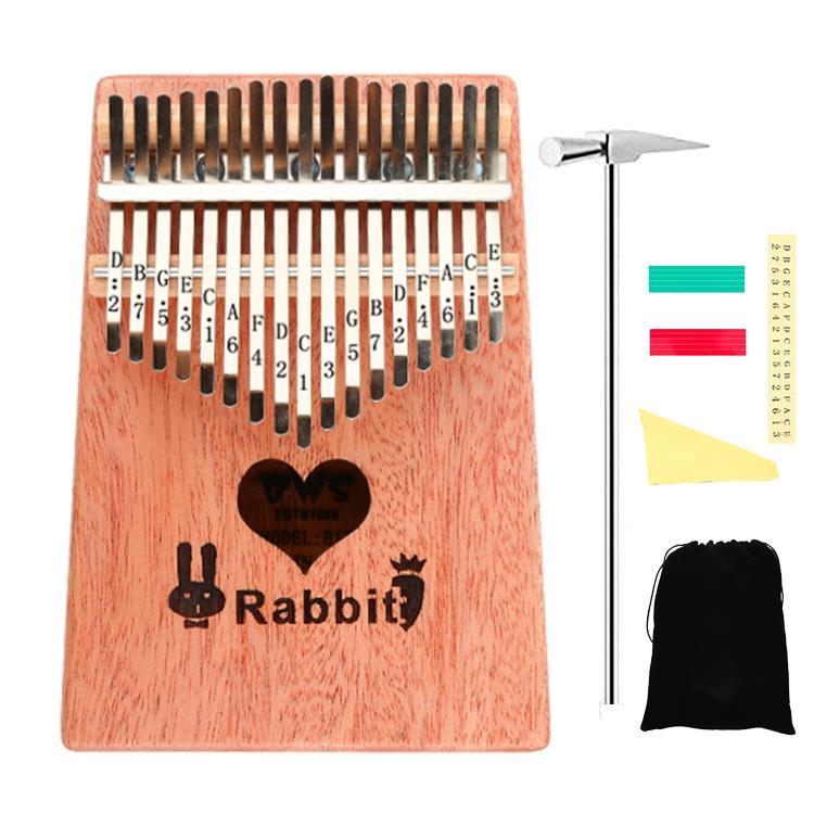 17 Keys Kalimba African Solid Mahogany and Golden Bamboo Thumb Piano