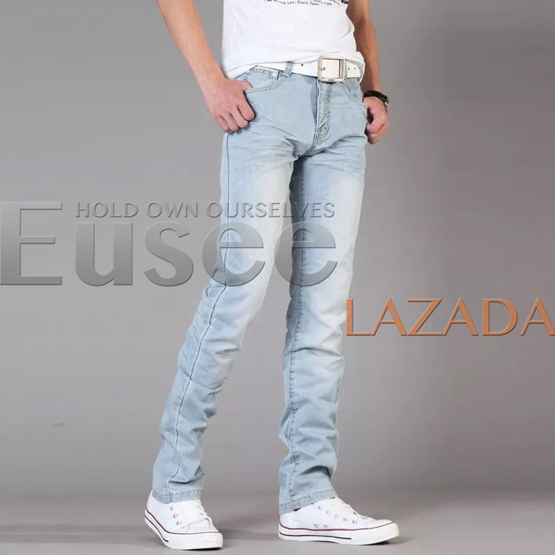 9f0170468e6 Philippines. EUSEE Light Blue Jeans For Men Skinny Stretchable Pants