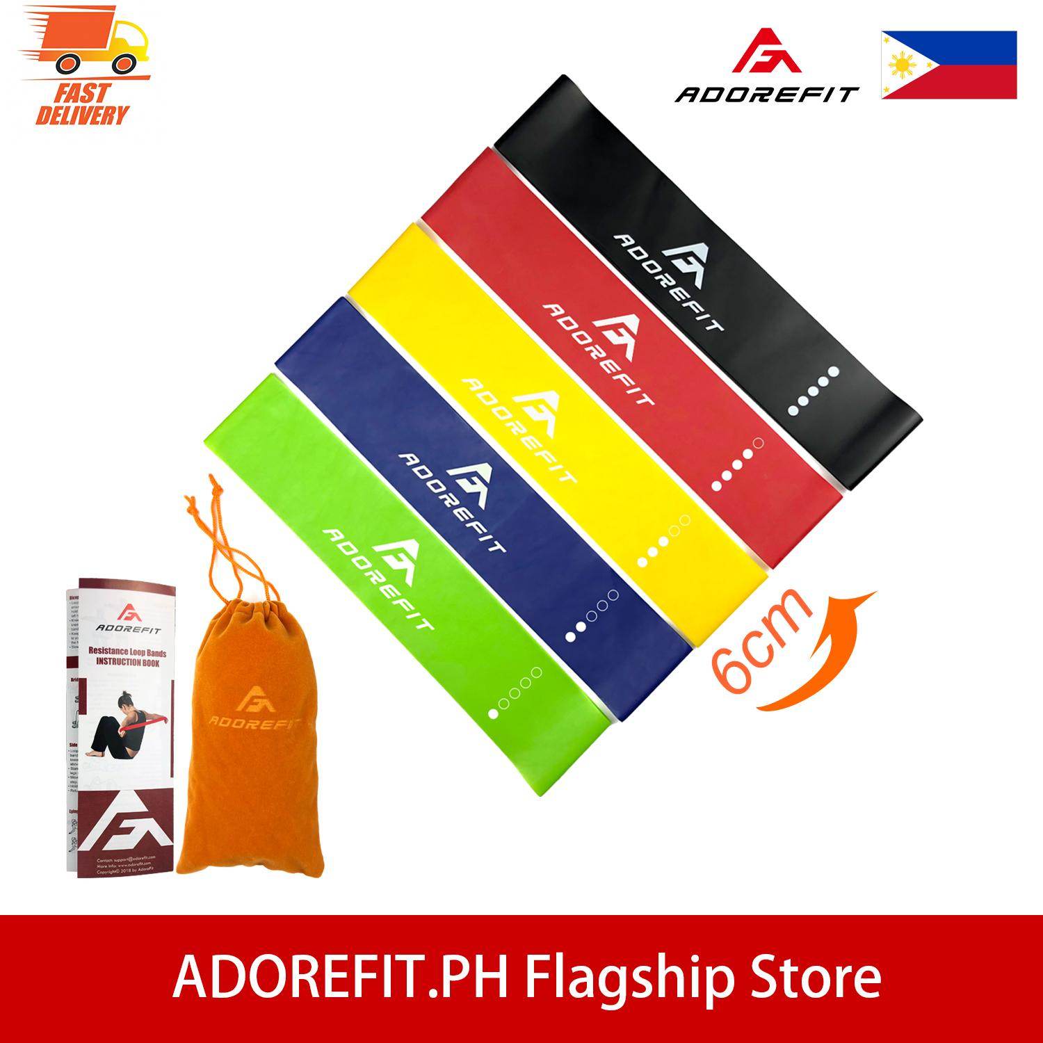 46309313a AdoreFit Resistance Elastic Loop Band - Width Upgraded Mini Fitness Workout  Exercise 5 Bands Set with
