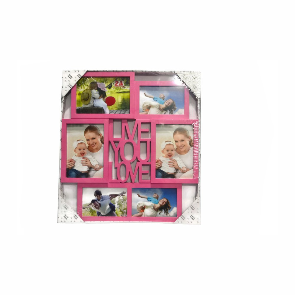 Me You Love Design Collage Picture Frame (Pink) - thumbnail