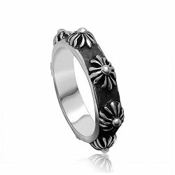 Mens Womens Stainless Steel Finger Rings Band Vintage Style (Intl)