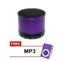 Mini  Bluetooth Speaker (Violet) with Free MP3 (Violet)