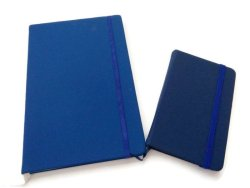 Moleskine Big and Small Notebook with Elastic Strap (Dark Blue)