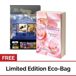 Moments for Mothers: Daily Devotions for Women (Book) + Usapang Pamilya Collection Volume #4 (DVD) with FREE Eco Bag