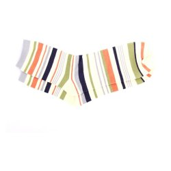 Be Fab! Multi Striped Socks (Beige/Orange)