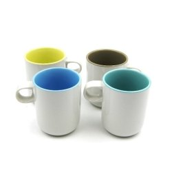 Multiple Choice Monotone Mug Set of 4