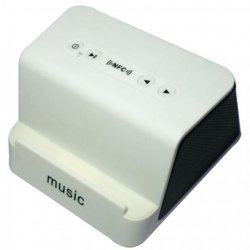 Music Wireless Bluetooth NFC Speaker with stand (White)