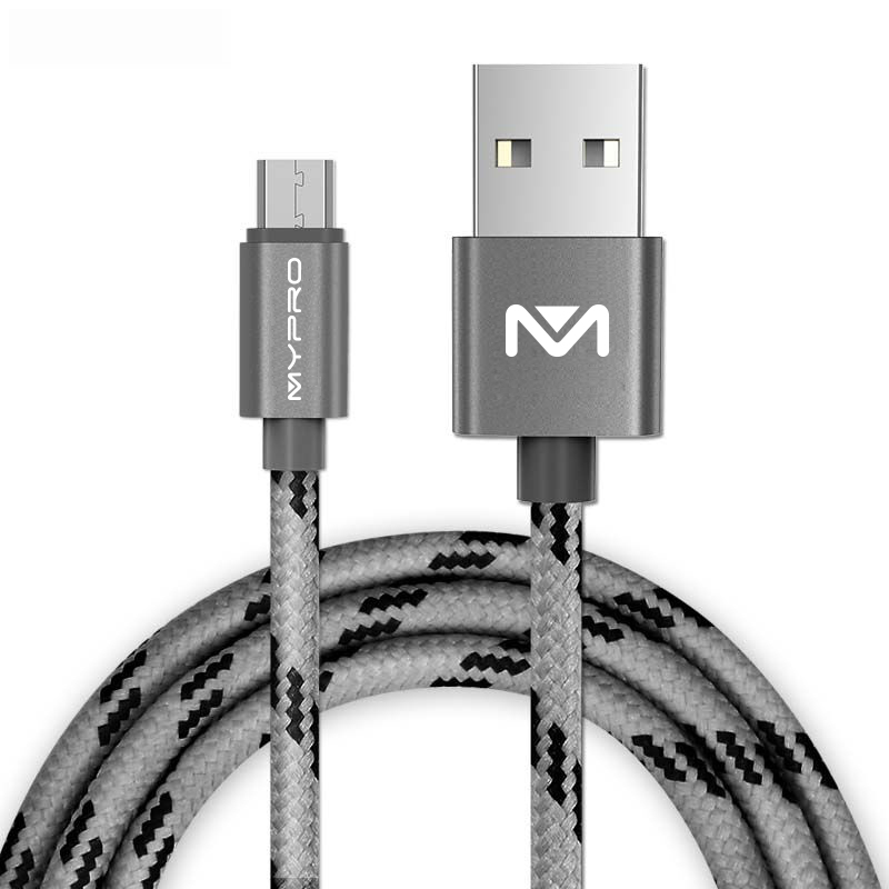 Mypro PowerLine 1 Meter Micro USB Cable for Android, Samsung, Cherry mobile, Myphone and more (Grey) product preview, discount at cheapest price