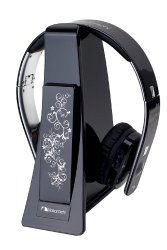 Nakamichi NW6000 Digital Wireless/Wired Over-the-Ear Headphone (Black)
