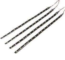 New 4Pcs 30cm Flexible Waterproof LED Car Light Strip Bar